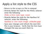 apply a list style to the css