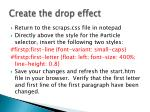 create the drop effect