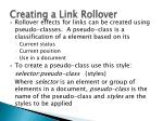 creating a link rollover