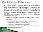 conditions for collocation