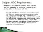 subpart ooo requirements15
