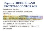 chpter 6 freezing and frozen food storage