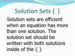 solution sets