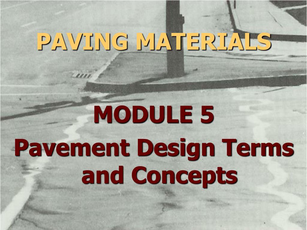 paving materials l.