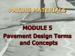 paving materials