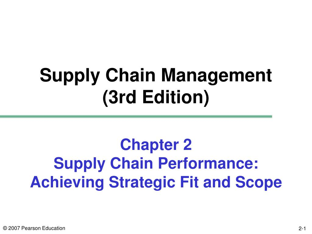 chapter 2 supply chain performance achieving strategic fit and scope l.