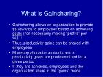 what is gainsharing