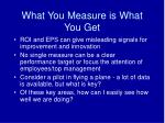 what you measure is what you get