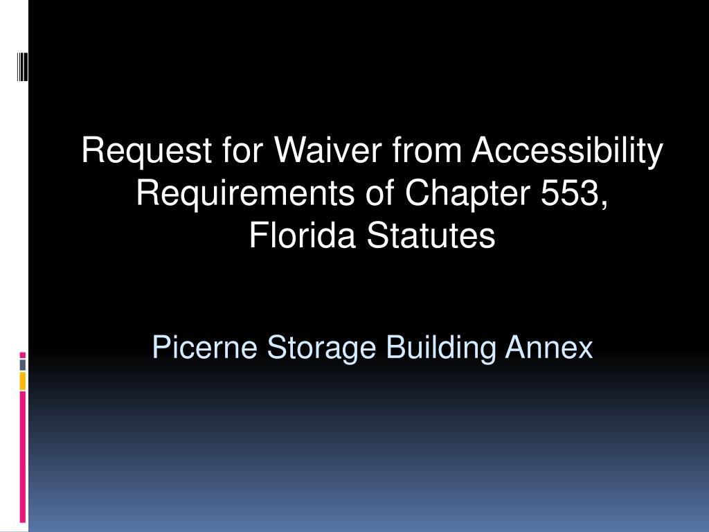 picerne storage building annex l.