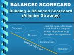 building a balanced scorecard aligning strategy