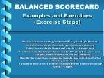 examples and exercises exercise steps