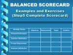 examples and exercises step5 complete scorecard