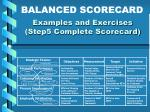 examples and exercises step5 complete scorecard21