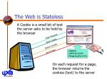 the web is stateless21