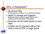 why a database