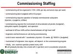 commissioning staffing