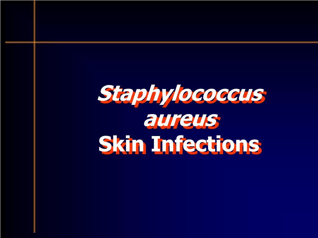 staphylococcus aureus skin infections l.