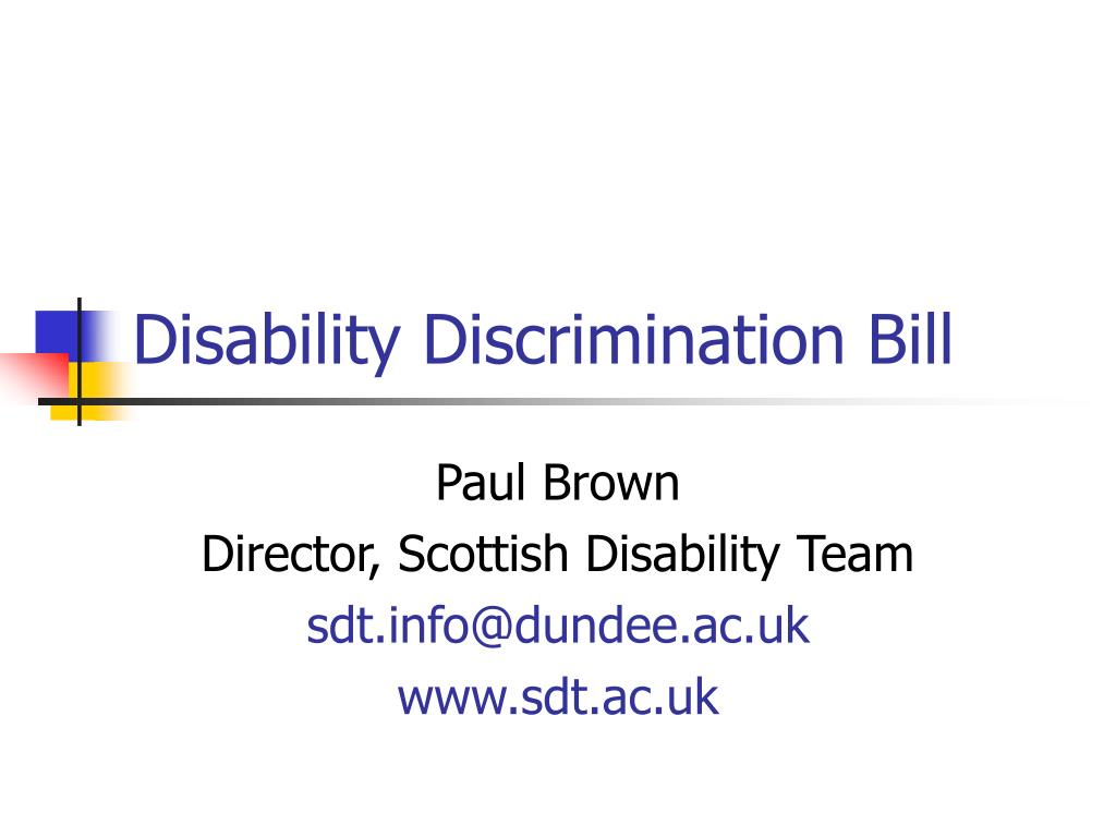 disability discrimination bill l.