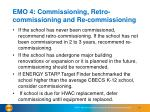 emo 4 commissioning retro commissioning and re commissioning