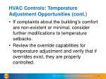 hvac controls temperature adjustment opportunities cont