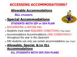 accessing accommodations