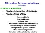 allowable accommodations continued47