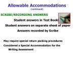 allowable accommodations continued49