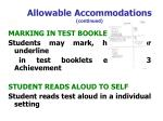 allowable accommodations continued54