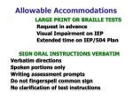 allowable accommodations35