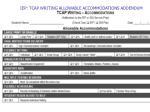 iep tcap writing allowable accommodations addendum