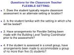 questions for the classroom teacher flexible setting