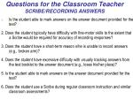 questions for the classroom teacher scribe recording answers