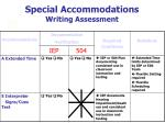 special accommodations writing assessment