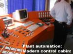 plant automation modern control cabin
