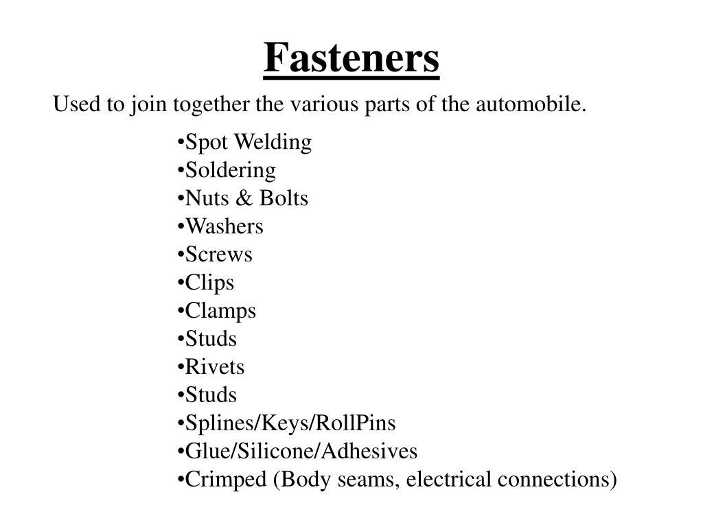 fasteners l.