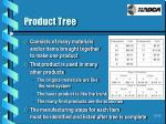 product tree
