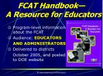 fcat handbook a resource for educators