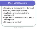 minor sss revisions