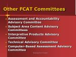 other fcat committees