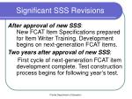significant sss revisions