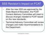 sss revision s impact on fcat