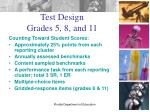 test design grades 5 8 and 11