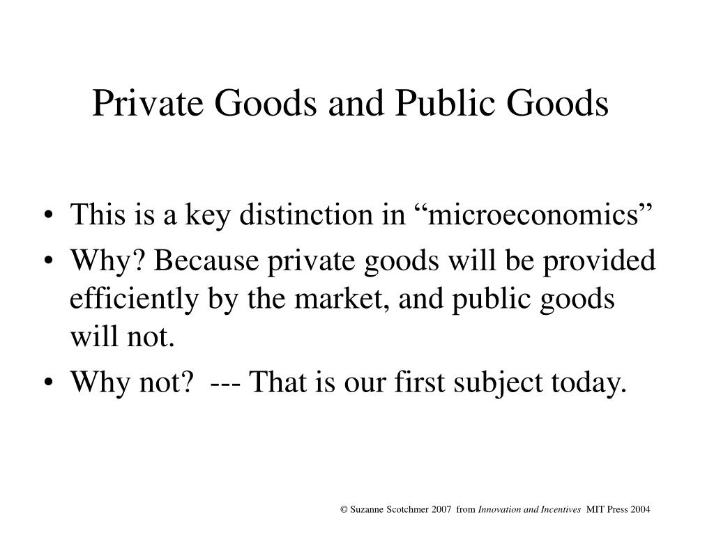 private goods and public goods l.