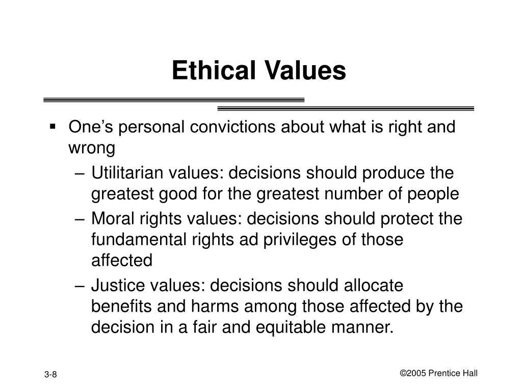 Ethical Values