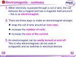 electromagnets summary