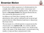 brownian motion