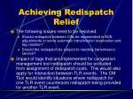 achieving redispatch relief