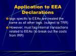 application to eea declarations