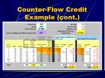 counter flow credit example cont13