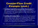 counter flow credit example cont15